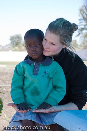 Suzanne and Zimbabwe Orphan