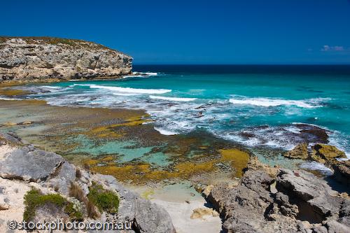 australia;bay;environment;horizontal;island;kangaroo island;ocean;pennington;rocks;scenery;sea;south;vacation;water