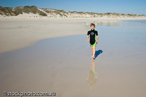 australian;bales;beach;boy;cape;coastal;environment;gantheaume;gender;horizontal;island;kangaroo island;land;male;ocean;people;sand;scenery;sea;sky;south;walking;water;wilderness