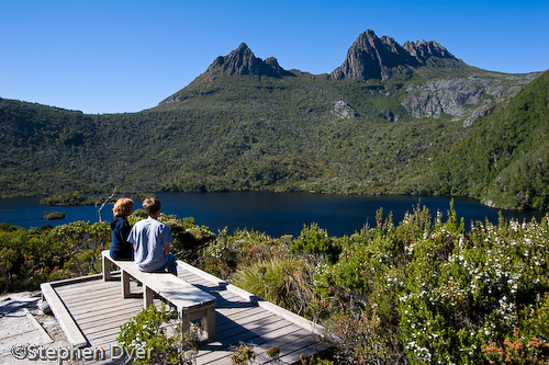 Seat;australia;bush;bushland;council;cradle;dove;ecology;ecosystem;environment;environmentalism;female;feminine;gender;heritage;horizontal;human;human being;human beings;humans;lake;land;landscape;male;man;masculine;meander;mountain;national;national park;nature;park;people;person;rocks;scenery;sitting;st clair;still;tasmania;tree;vally water;water;wilderness;woman;womanly;women;world