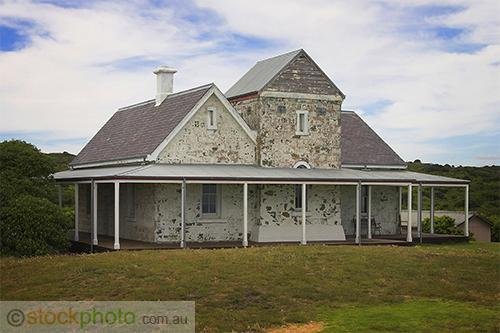 Cape;Otway;Lightstation;park;environment;scenery;land;coast;water;ocean;sea;lighthouse;architecture;building;government;building;telegraph;station;telegraph;horizontal;residential;building;home;house;cottage;