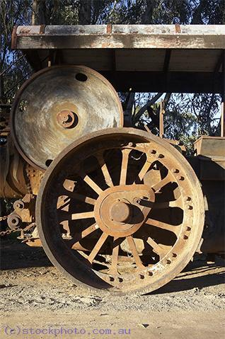 pioneer;settlement;swan;hill;victoria;old;old;fashioned;steam;roller;steamroller;steam;roller;machinery;road;EQUIPMENT-OBJECTS;construction;equipment;wheel;