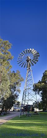 pioneer;settlement;swan;hill;victoria;old;old;fashioned;windmill;wind;mill;water;pump;