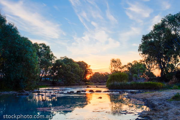 hdr;hill;island;little;murray;pental;river;sunset;swan;water