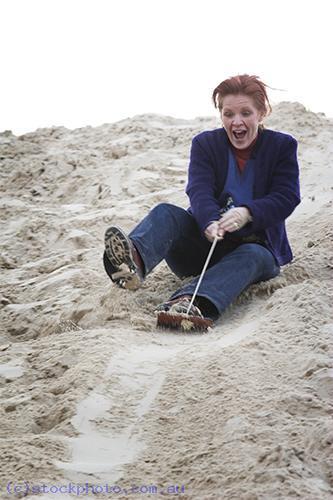 environment;scenery;land;park;national;park;Wyperfeld;National;Park;Wyperfeld;sandhill;snowdrift;fun;sliding;people;gender;female;women;woman;sand;vertical;