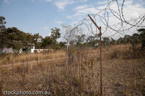 Arcturus;Mashonaland East;africa;fence;fortification;harare;horizontal;razor;security;wire;zimbabwe
