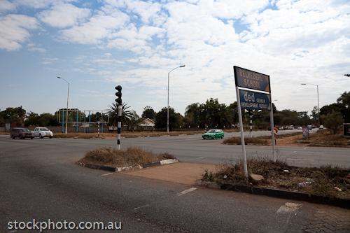 Kuwadzana 4;Mashonaland East;africa;automobile;harare;horizontal;intersection;road;signs;street;vehicle;zimbabwe